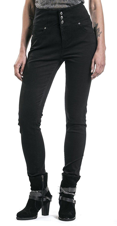 High waist jeans schwarz amazon