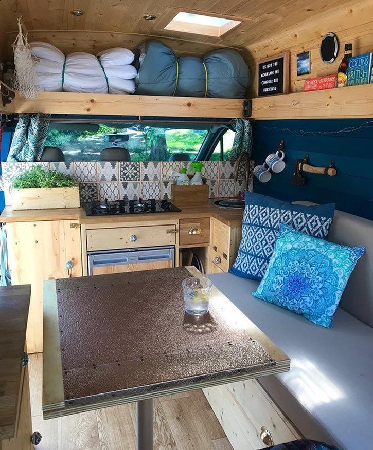 """Photo of Elizabeth aka @van_grrrl on Instagram: """"What's the most important feature of your van or future van? As most of you know, for us it's storage. Our van may look pretty…"""""""