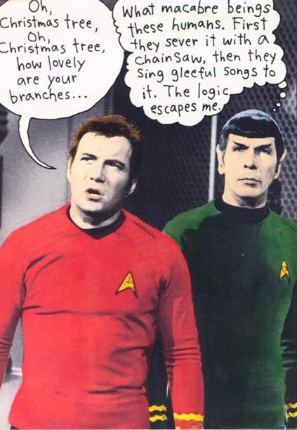 Oh Christmas Tree ... #startrek #humor #spock #kirk #funny | Star trek funny, Star trek ...