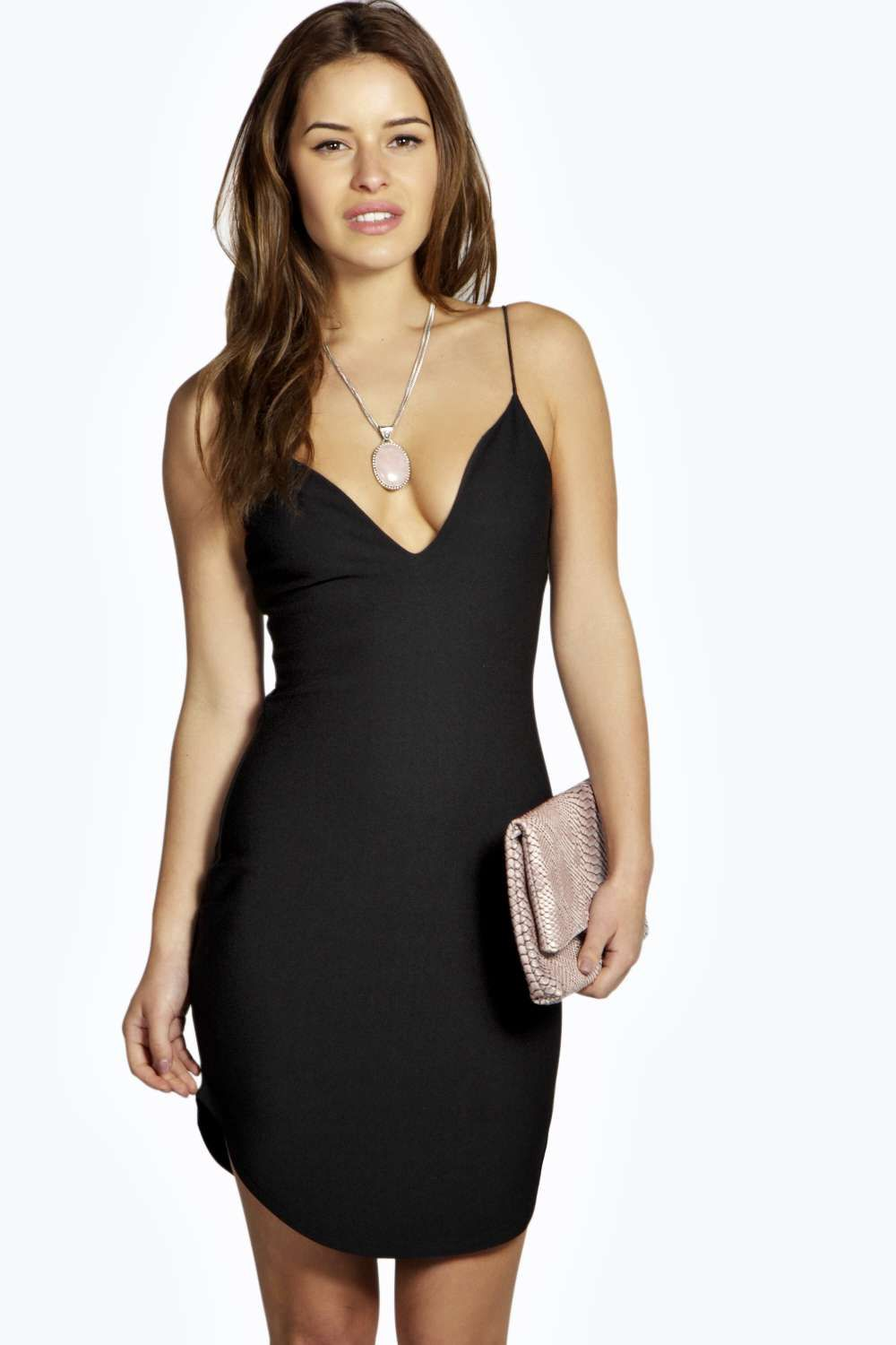 Eva Plunge Neck Petite Bodycon Dresses | Bodycon Dresses ...