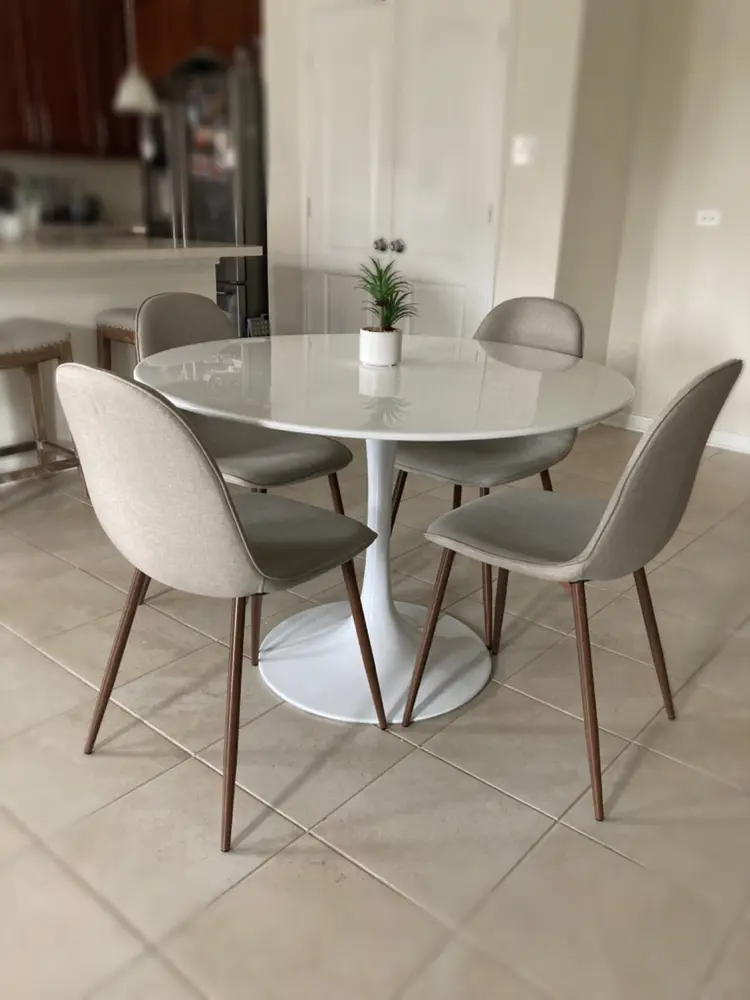 34++ Round modern dining table and chairs Best Choice