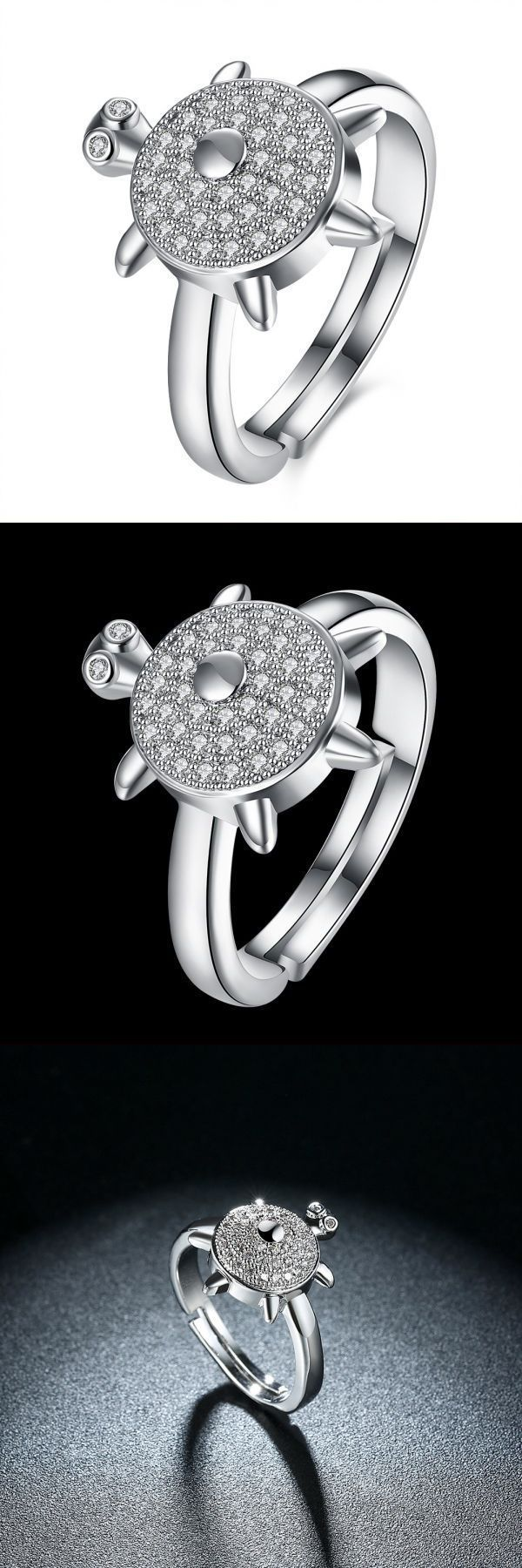Inalis lovely turtle zircon platinum opening gift party wedding