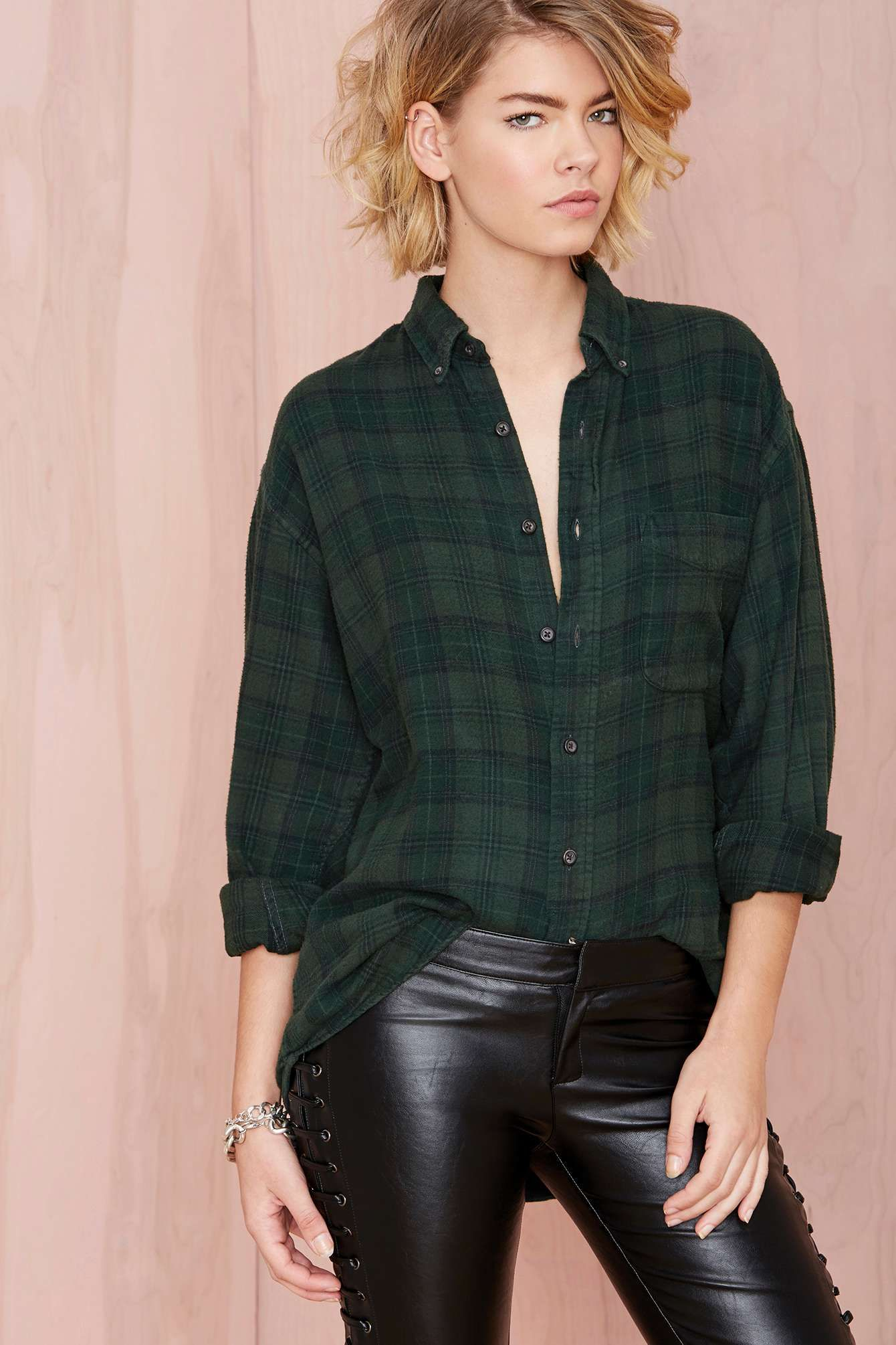 Flannel shirt party  After Party Vintage Tried And True Flannel  Forest Green  Shop
