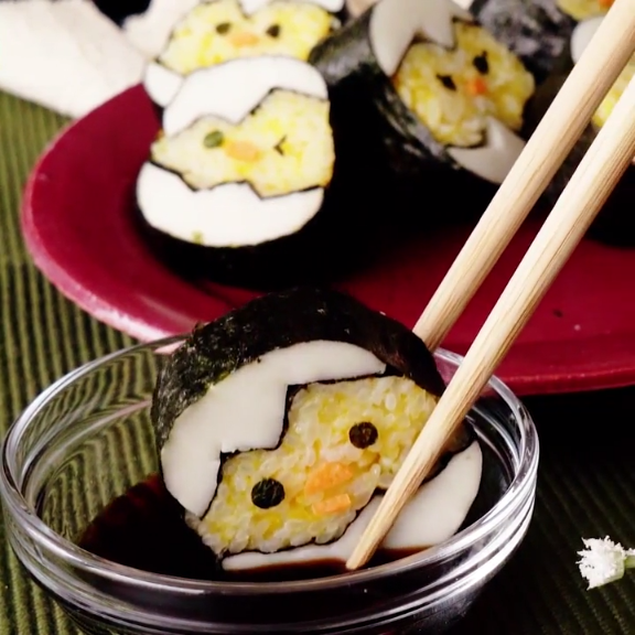 Baby Chicks Rolled Sushi