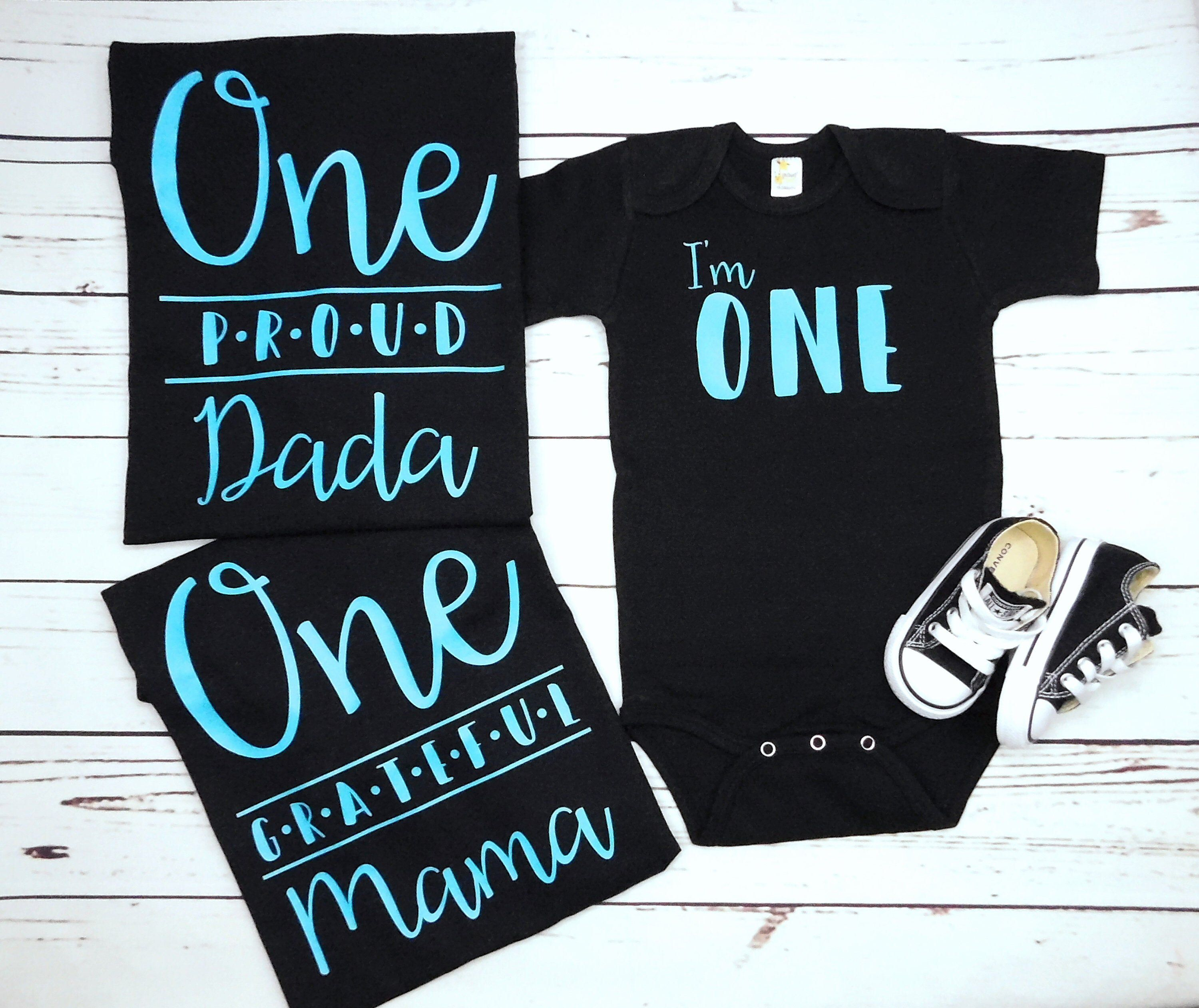 Custom Family Shirts for First Birthday, 1st Birthday Boy Cake Smash Outfit, Turquoise, Teal, Blue