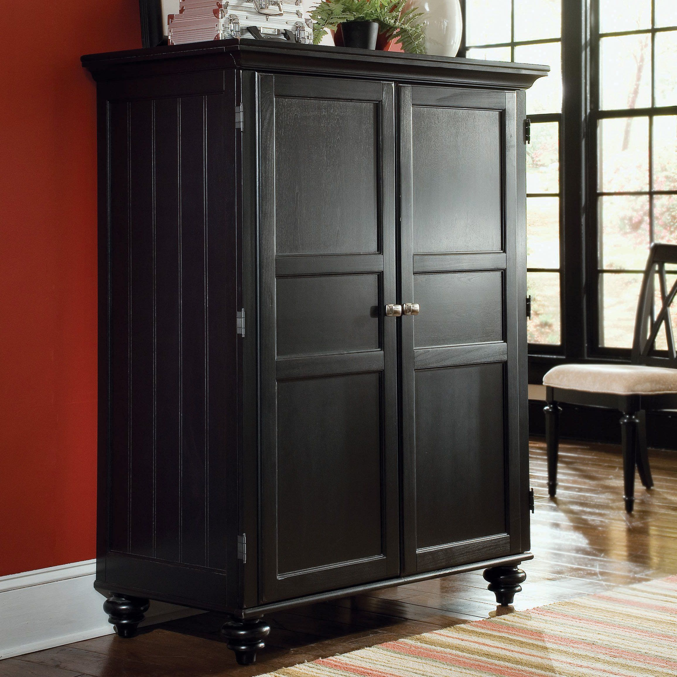 american drew camden computer armoire black storage style and the camden computer armoire black offers you all that and more