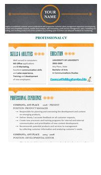 Header For Resume Professional Resume Format Example With Orange And Teal Accents And .