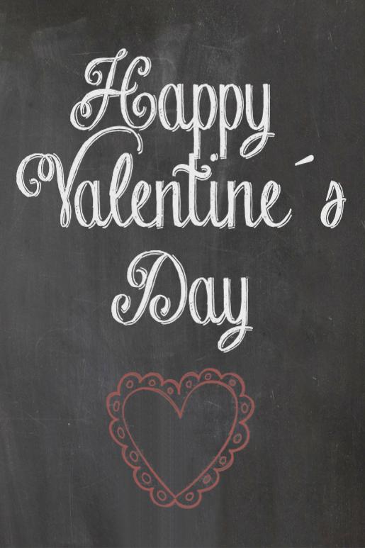 Valentine Chalkboard http://fraeuleinrabe.blogspot.de/