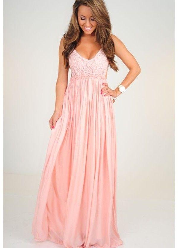 Pink Summer Maxi Dress | wedding dresses | Pinterest | Pastell ...