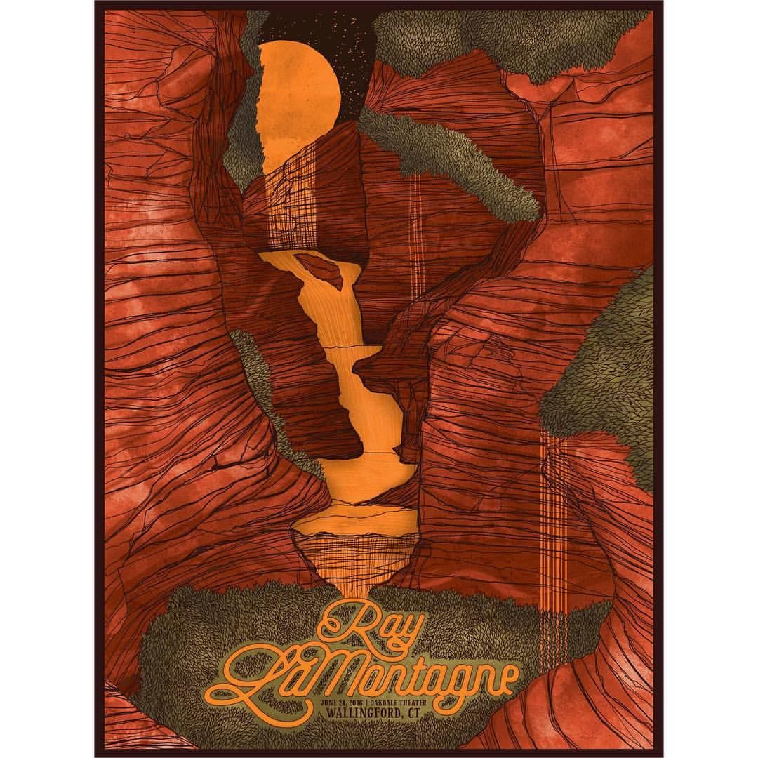 Ray LaMontagne poster for Oakdale Theatre in Wallingford