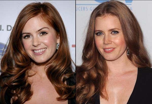 16. Isla Fisher y Amy Adams. Actores que se parecen a otros actores.