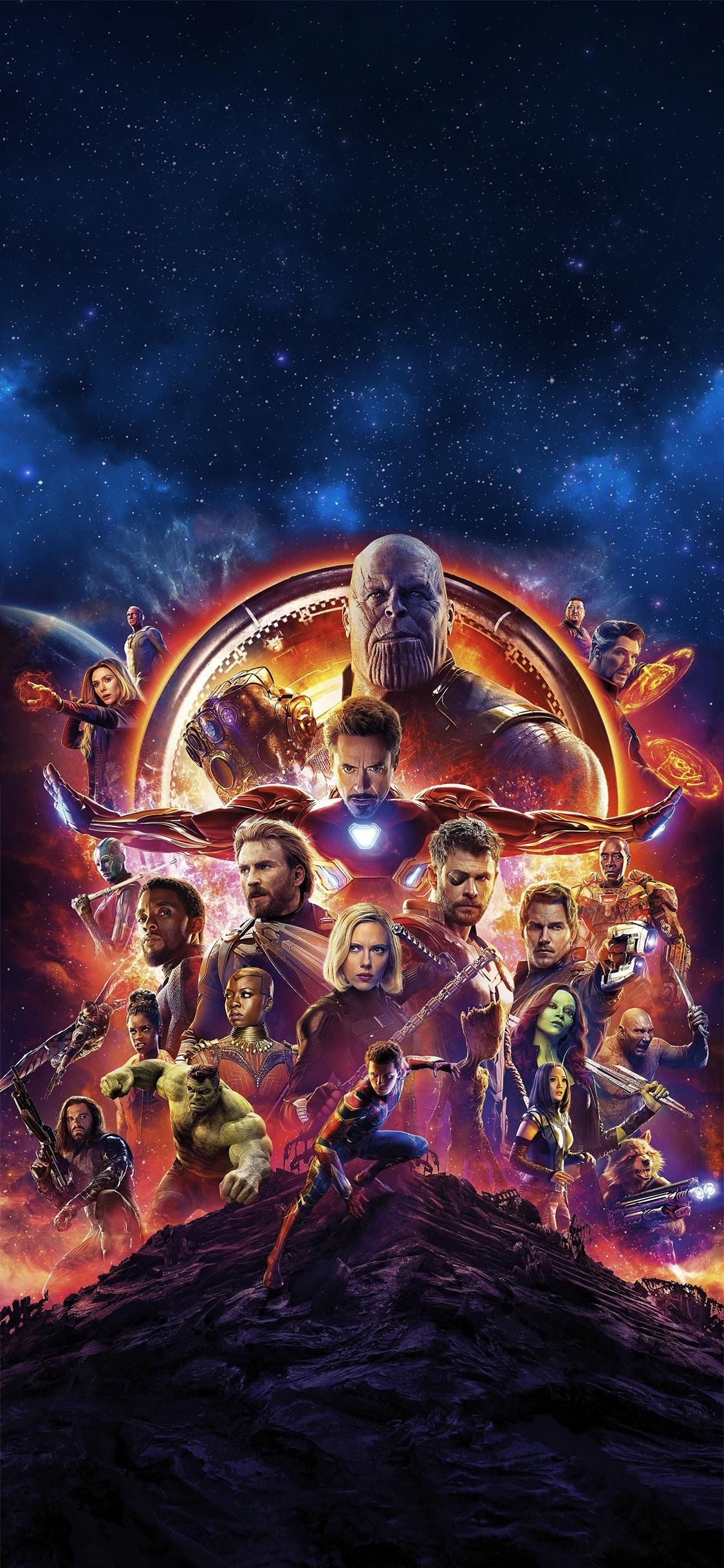 I Made An Infinity War Wallpaper Optimised For Iphone X
