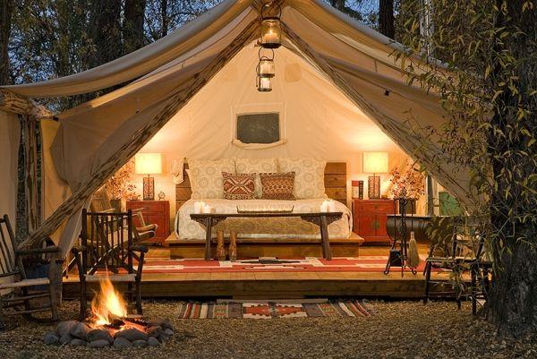 glamping camping urlaub komfort luxuszelt klimaanlage einrichtung tricky pinterest. Black Bedroom Furniture Sets. Home Design Ideas