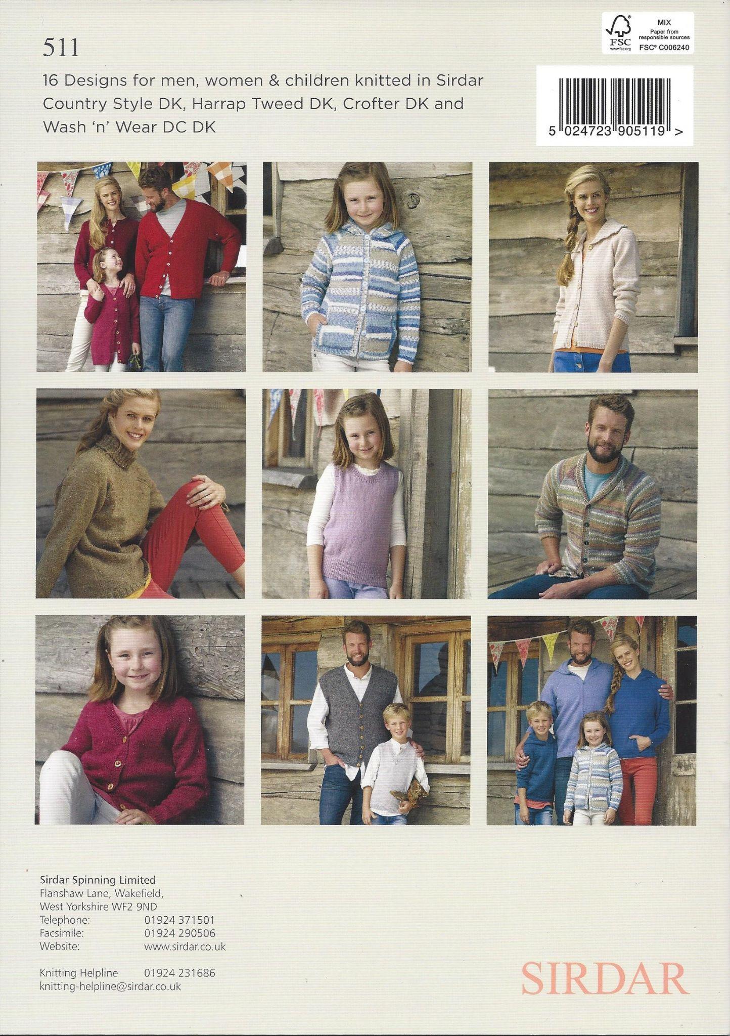 Sirdar book 511 basic dk knits 16 knit designs for men women sirdar book 511 basic dk knits 16 knit designs for men women children bankloansurffo Image collections