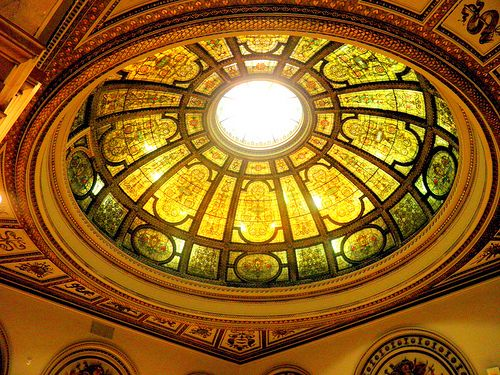 Cultural Center Tiffany Dome (the old main branch library) Sweet Home Chicago 195