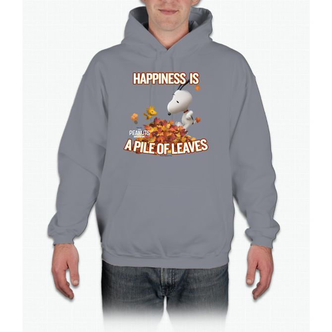 Peanuts - Snoopy - Happiness Leaves Charlie Brown Hooded Sweatshirt