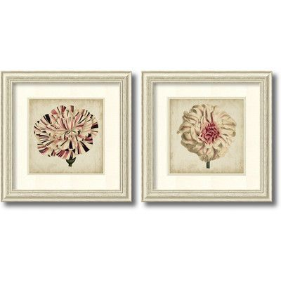 Amanti Art 'Pop Floral' by Vision Studio 2 Piece Framed Painting Print Set