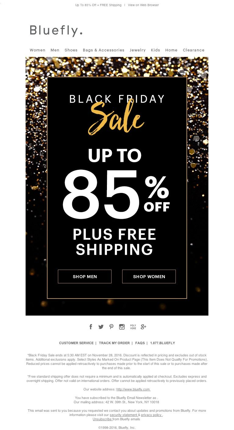 Bluefly Happy Thanksgiving Black Friday Starts Now With