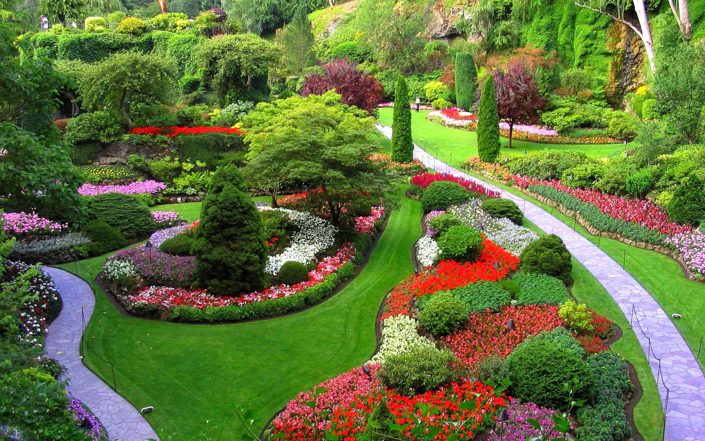 Flower Garden Images Free Download Hd Incredible Flowers In Butchart Gardens Garden Design Garden Features