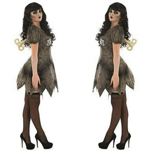 Sexy Dead Rag Doll Ladies Costume Halloween Fancy Dress Adult Outfit UK 16-18