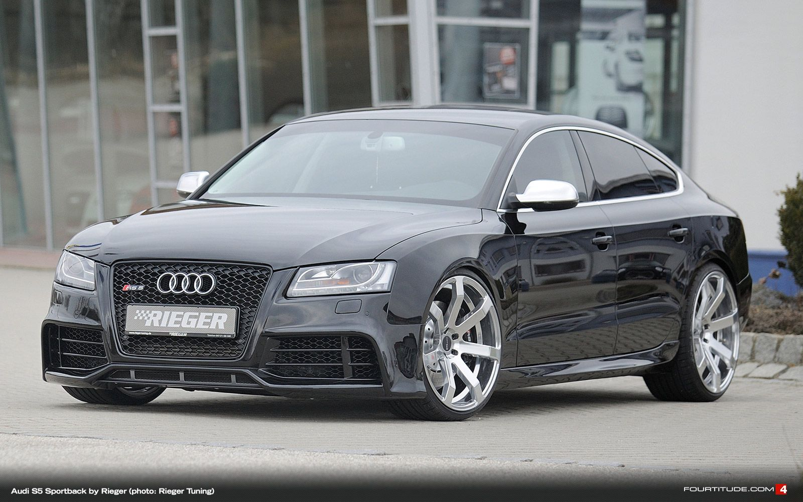 Rieger tuning gives audi a5 s5 sportback an rs look fourtitude com
