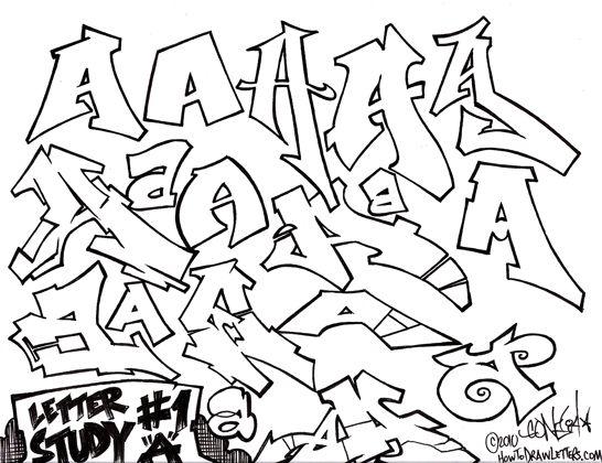 Graffiti Letter Study T  Font    Graffiti Graffiti