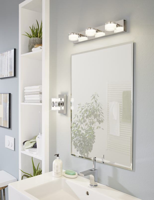 EGLO ROMENDO LED Spiegelleuchte chrom, satiniert-klar Badezimmer - badezimmer spiegelleuchten led