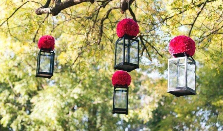 Outdoor decoration idea indian weddings lantern flower outdoor decoration idea indian weddings lantern flower junglespirit Images