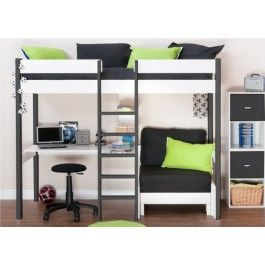 Stompa Uno Nero High Sleeper Bed Frame Only Boys Beds