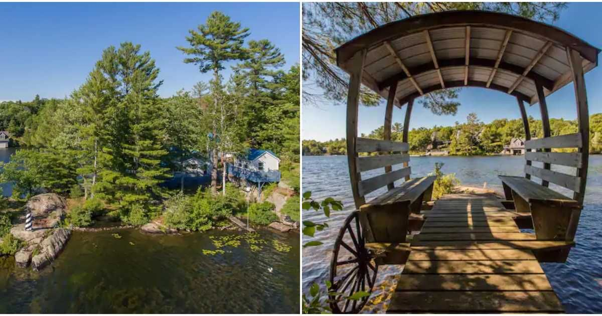 This Ontario Airbnb S Floating Carriage Lighthouse Give Off Major Fairytale Vibes Lighthouse Exciting Travel Canada Travel
