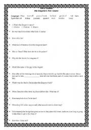 English worksheet: The Emperor´s New Groove