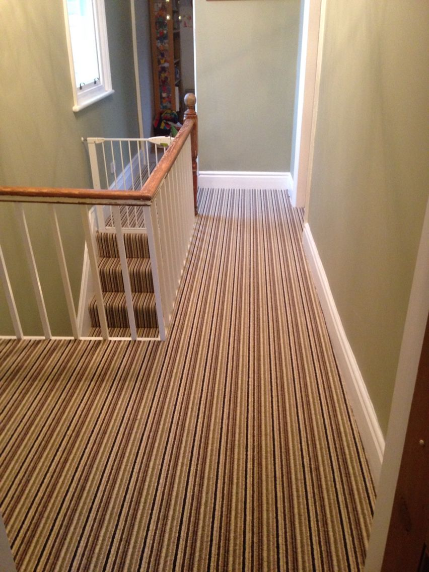 Striped Stairs Landing Carpet Stairs Stair Landing
