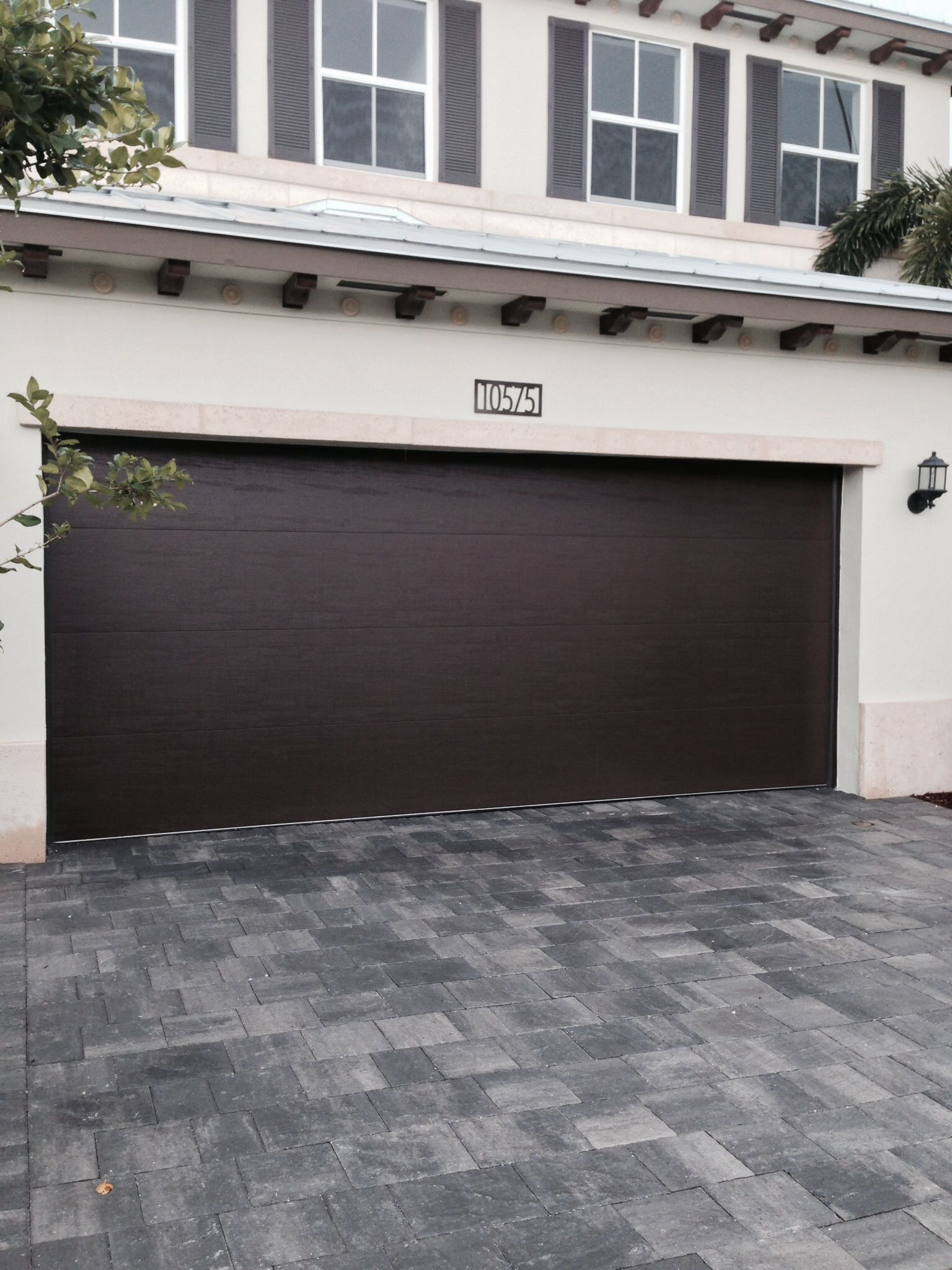 Clopay Steel Garage Door In A Smooth Panel Design Adds A