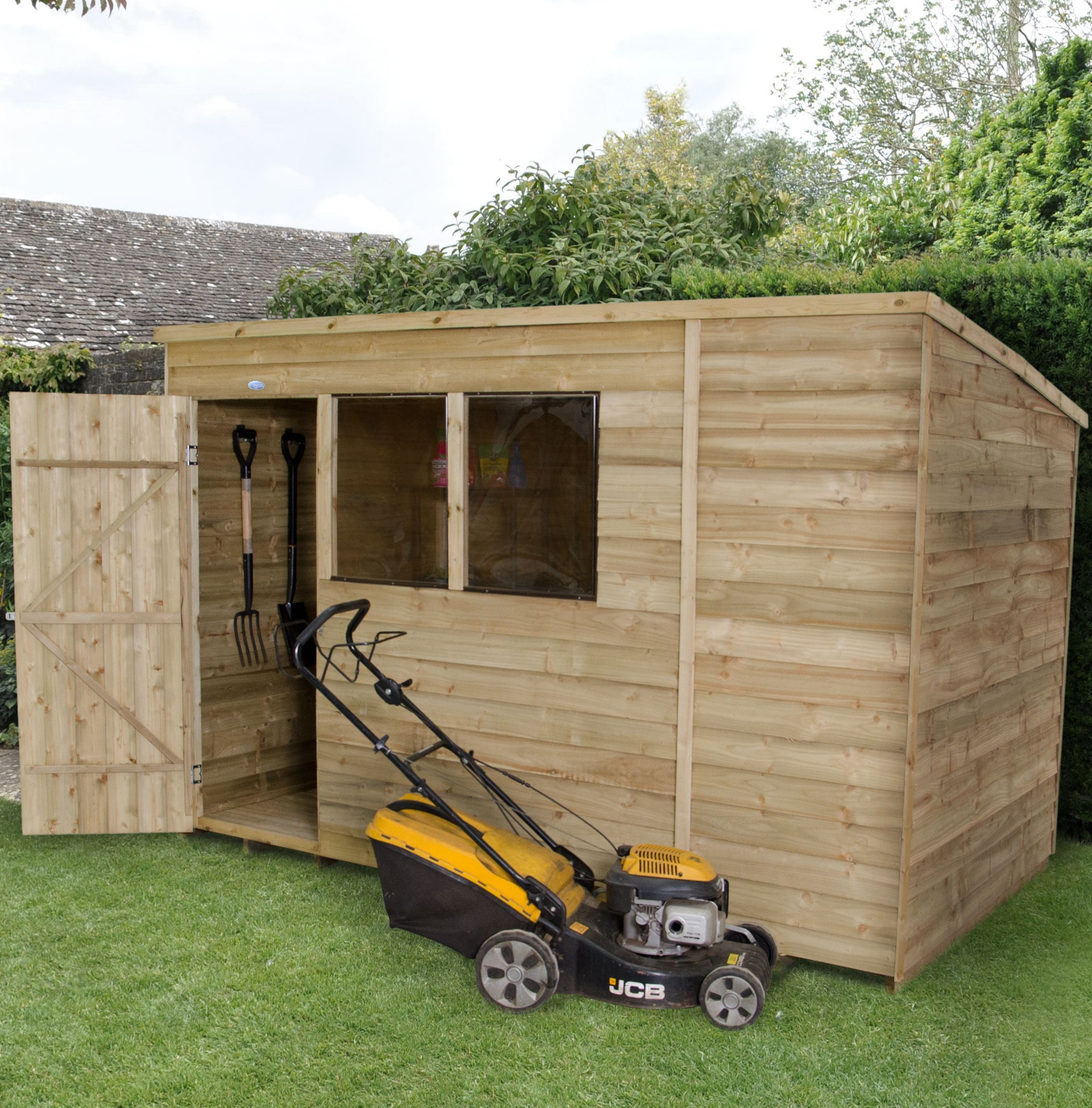 Forest 10x6 Pent Overlap Wooden Shed In 2020 Wooden Sheds Shed Garden Shed