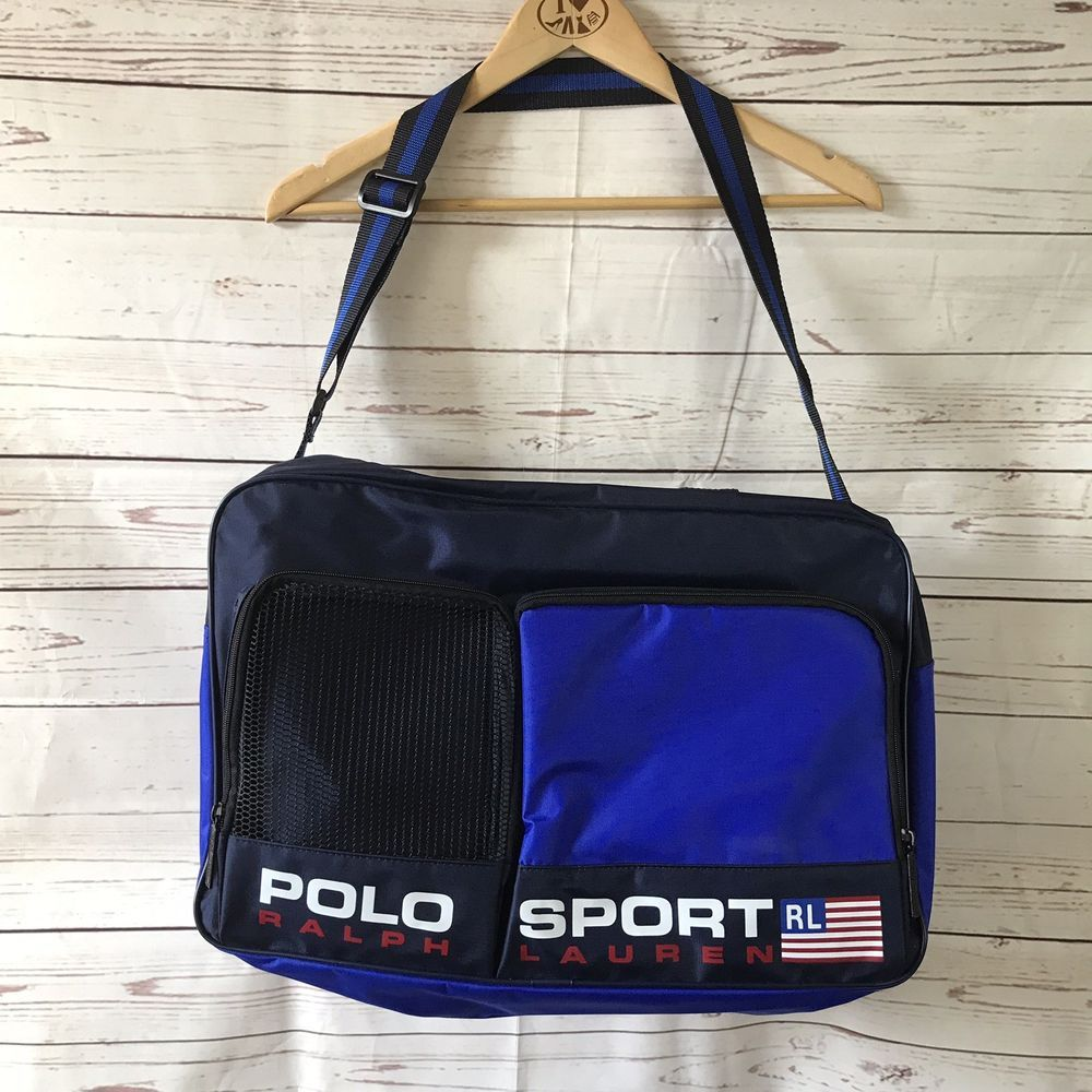 6d0ef97174 ... clearance nwot polo sport ralph lauren duffle gym bag blue spell out  fashion clothing 129de e769d