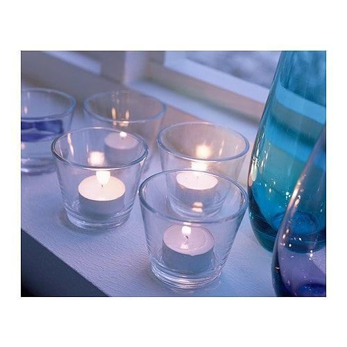 GALEJ Tealight holder IKEA | Glass tea light holders, Tea