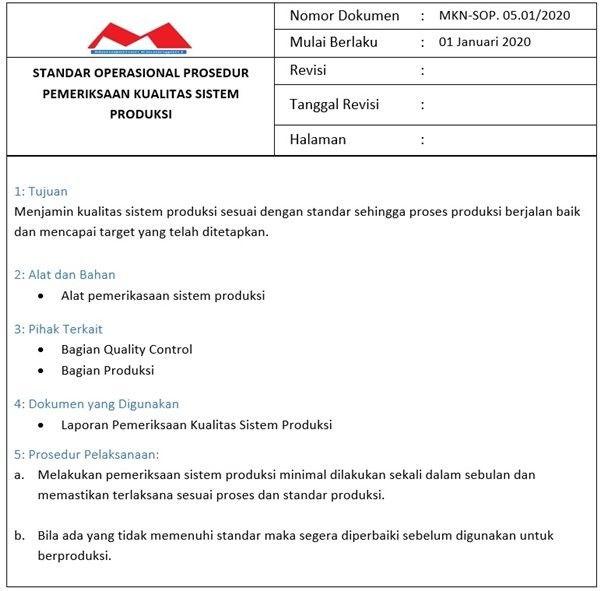 Sop Produksi Sistem Produksi Akuntansi Keuangan Keuangan Akuntansi