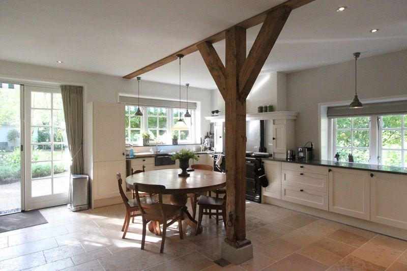 Landelijke keuken na verbouwen oude boerderij projecten woningen verbouw pinterest aga - Deco keuken kleur ...