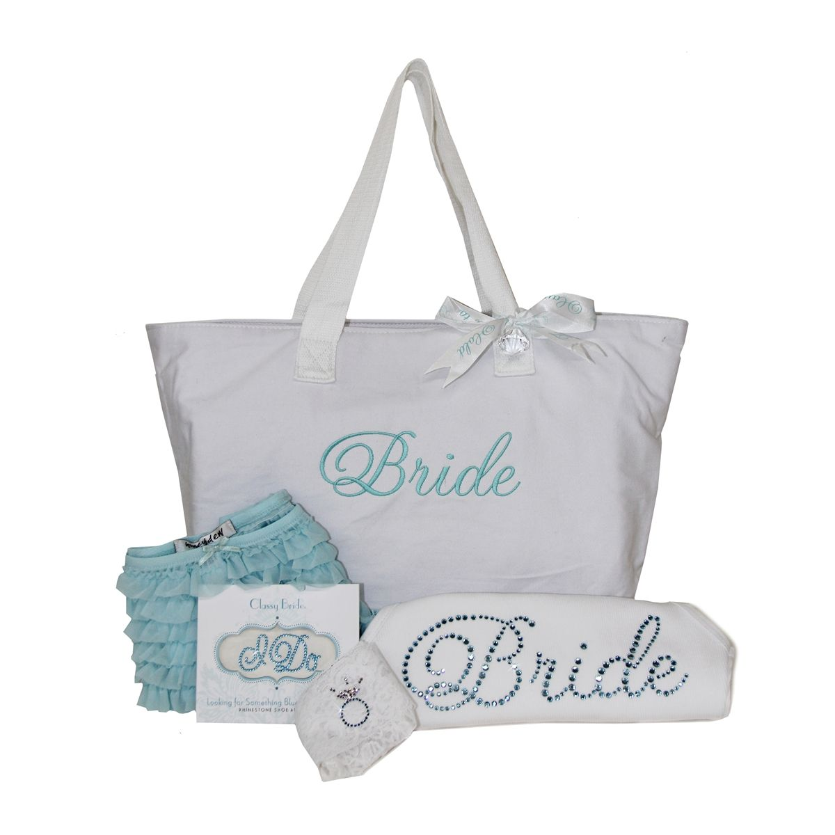 Something Blue Bridal Shower Gift Box Planning My Wedding