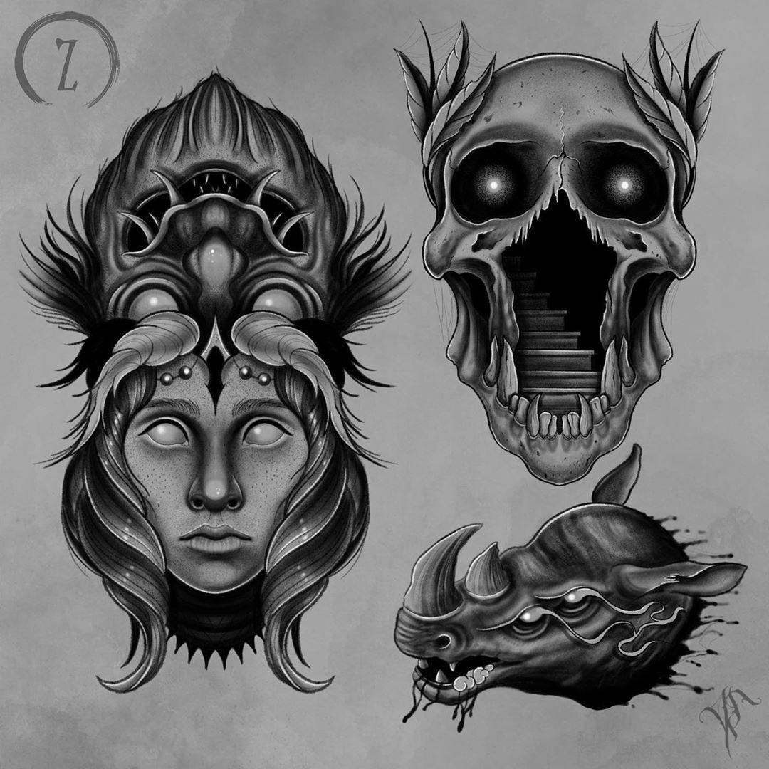 Свободны . . #tattoo #ink #inkedup #inkedmag #blxckink #blackworkers #blackwork #pointilism  #graphic #murmansk #zapsideink #skull #blackink #bw #drawing #sketch #tattoodesign #art #darkart #illustration #inkoverblackart #thedarkestwork #a_drop_of_black