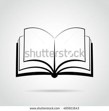 Illustration Of Open Book Design Black Drawing Open Book Drawing Book Drawing Book Art