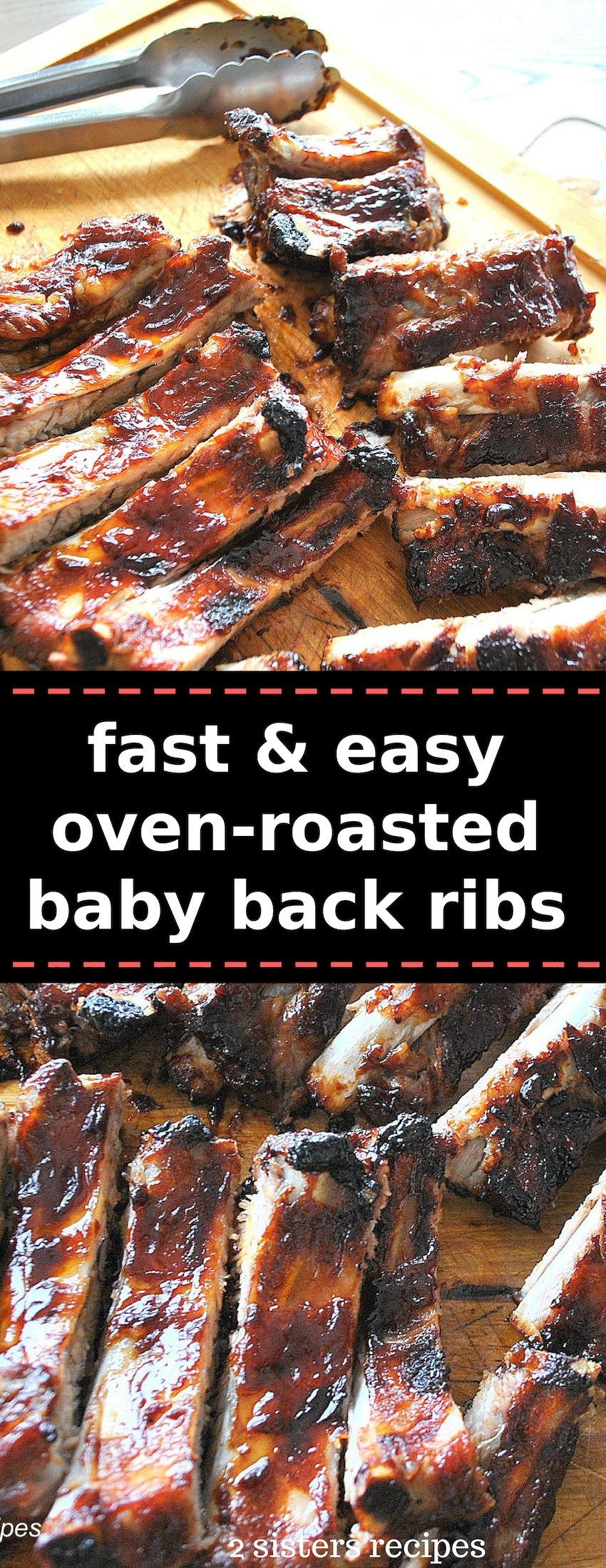 Fast & Easy Oven Roasted Baby Back Ribs #ribsinoven