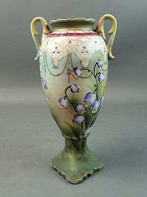 Japanese Hand Painted NIPPON Moriyama Mori-machi Brothers Vase