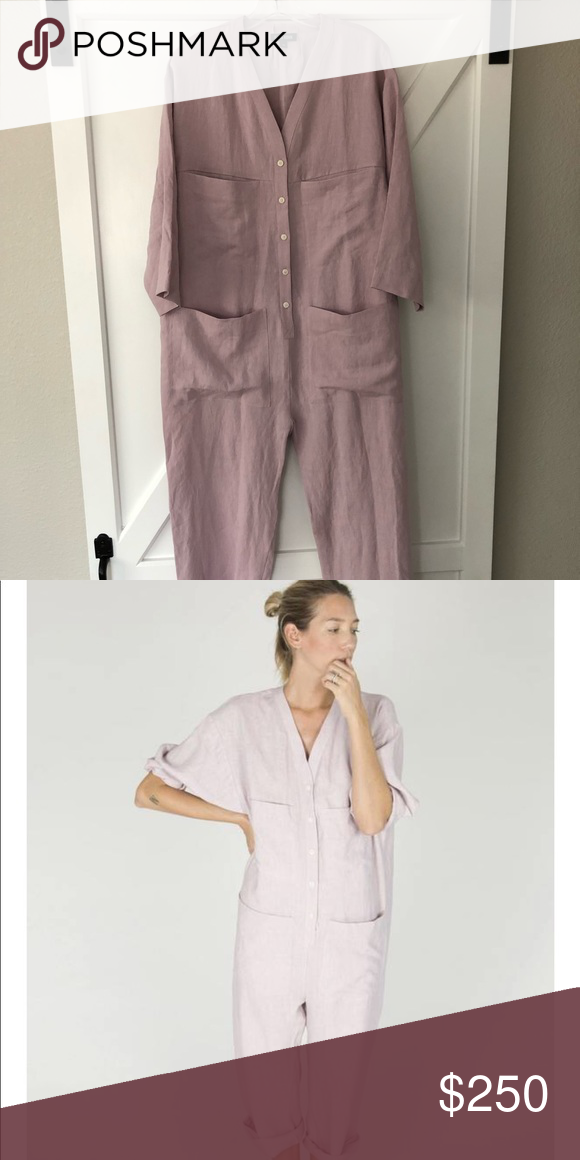 "c0c790a0cbb4 Ilana Kohn tuck coverall M New without tags linen coverall size M with oversized  fit Color is ""Lila"" Pants Jumpsuits   Rompers"