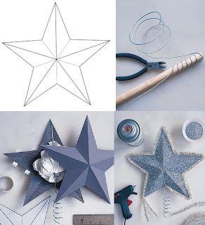 Estrella puntero o adorno para colgar en el arbol de - Estrella para arbol de navidad ...