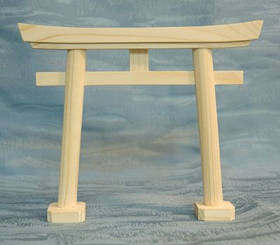 Japan Shinto Shrine Gate Small Wood Model Torii Tori Japan