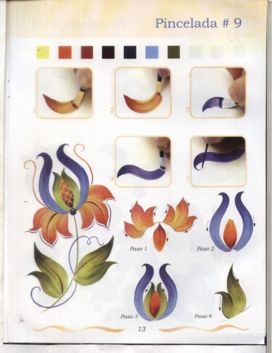 Рисуем цветы - senia One Stroke - Picasa Web Albums