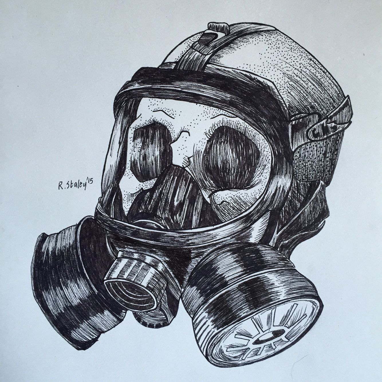 Ww2 gas mask in skull