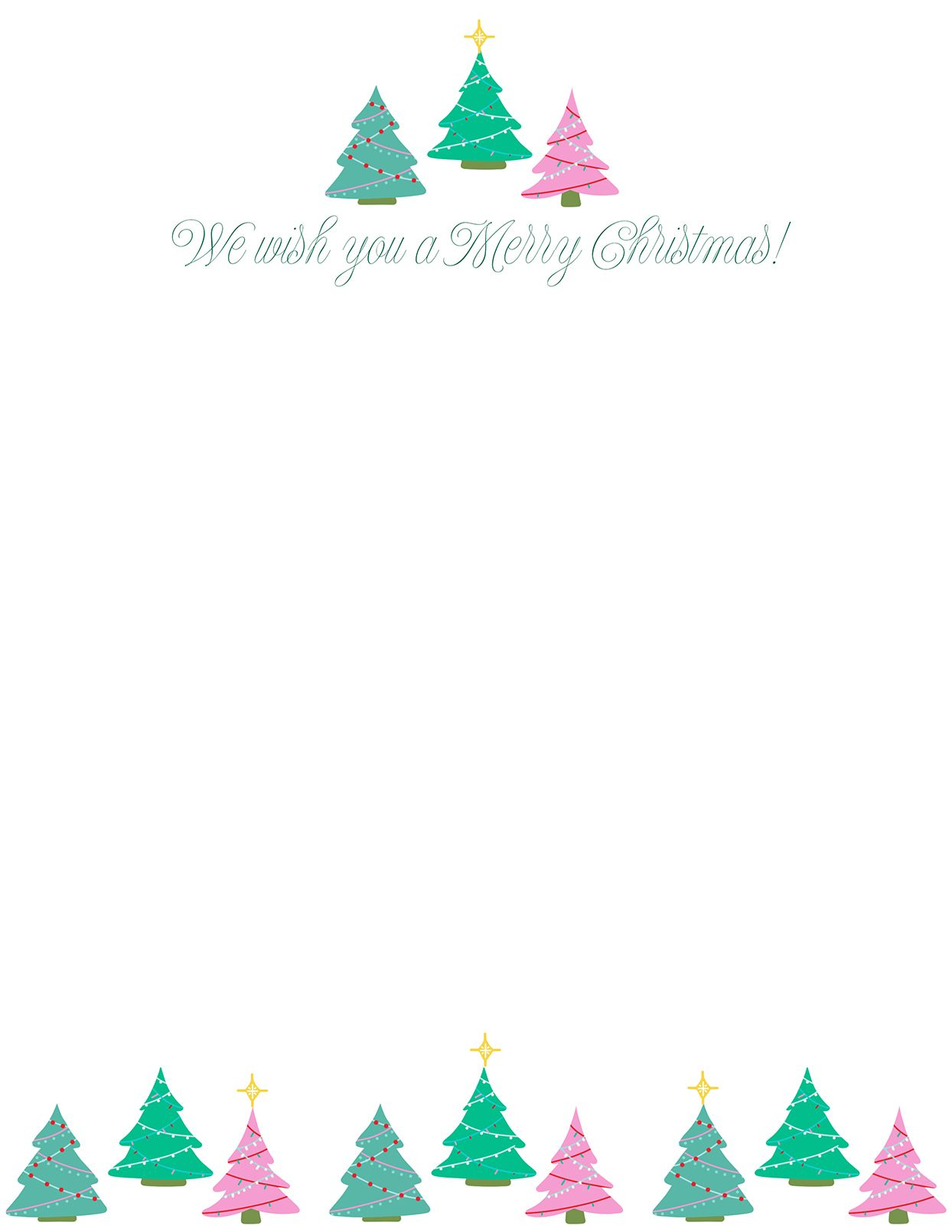 33 Free Templates To Help You Send Holiday Cheer For Christmas Note Card Templates Sample Christmas Note Cards Christmas Letter Template Christmas Lettering