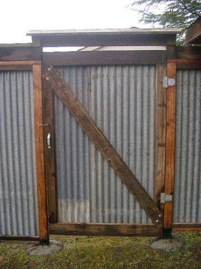 All Recycled Corrugated Metal fence Pinterest Tarimas, Rejas y